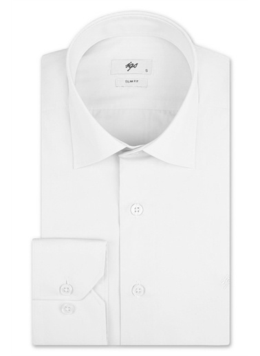 IGS Igs 137581Shss Erkek Slım Fıt Gömlek Beyaz
